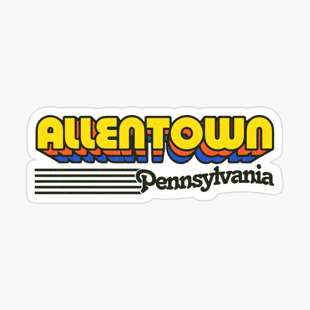 Allentown, Pennsylvania | Retro Stripes Sticker