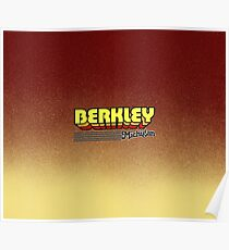 Berkley, Michigan   Retro Stripes Poster
