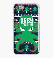 Refuse Christmas, Obey Cthulhu iPhone Case/Skin