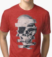 Glitch Skull Mono Tri-blend T-Shirt