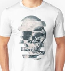 Glitch Skull Mono Slim Fit T-Shirt