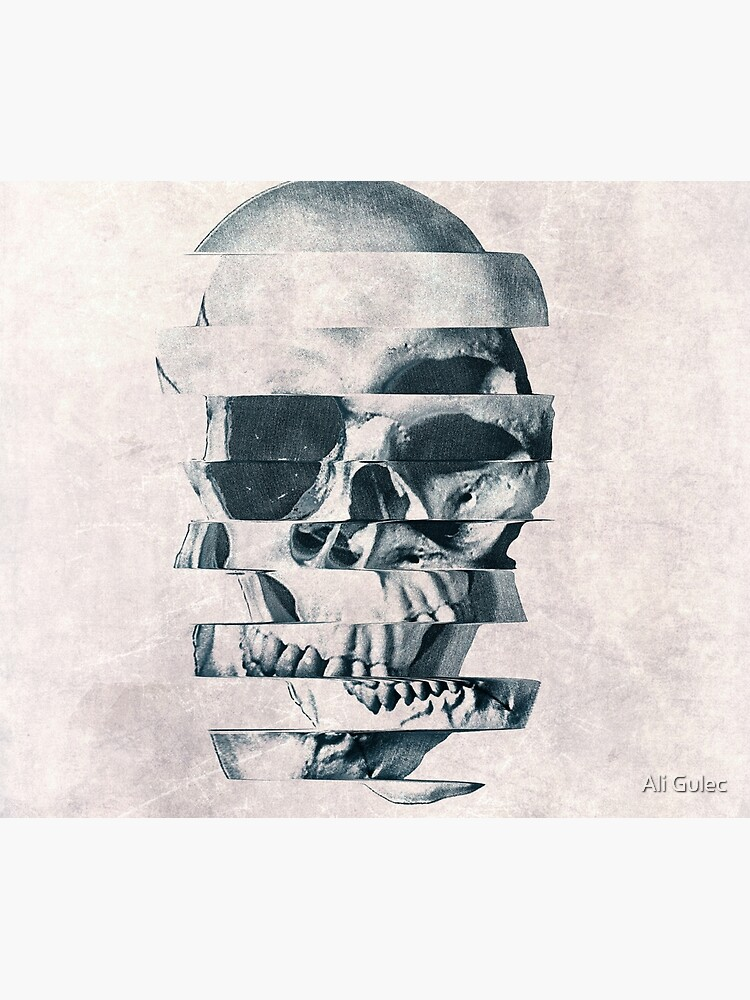 Glitch Skull Mono by aligulec