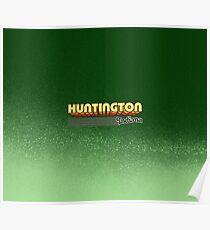 Huntington, Indiana   Retro Stripes Poster