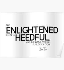 enlightened - sun tzu Poster