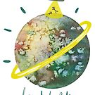 I want to believe watercolor planet by Wieskunde