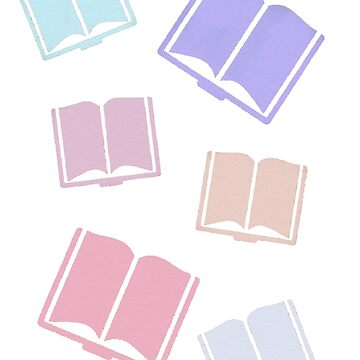 Pastel Book Print by elfiesdesigns