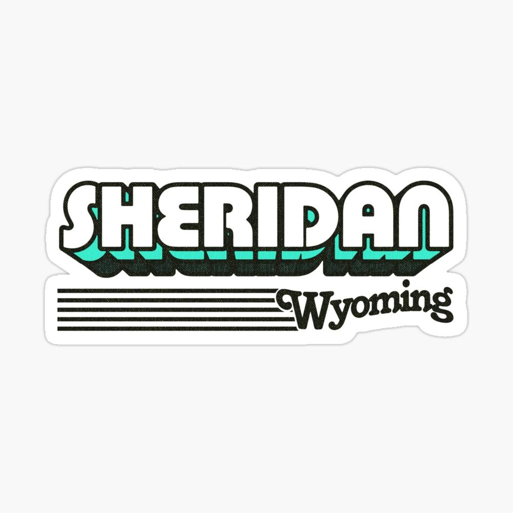 Sheridan, Wyoming | Retro Stripes Sticker