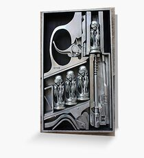 H. R. Giger Museum - Entrance Statue. Gruyeres, Switzerland Greeting Card