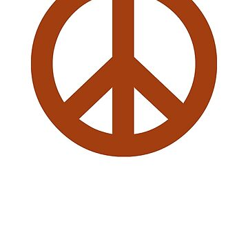 Brown Peace Sign Symbol by popculture