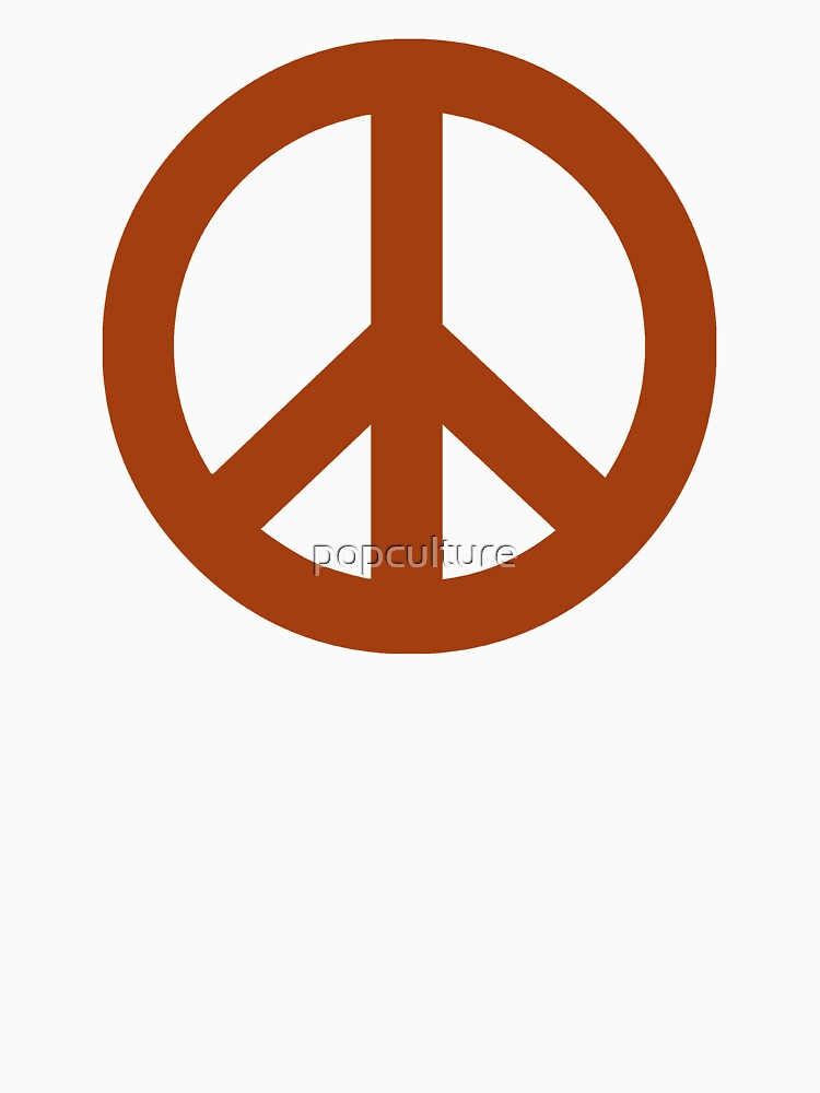 Brown Peace Sign Symbol Unisex T Shirt By Popculture Redbubble