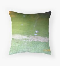 Unsettled Cemetery, Orbs, Ghosts Throw Pillow