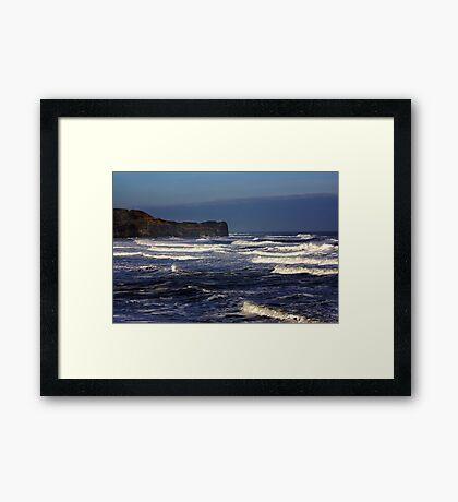 North Sea at Sandsend. Framed Print