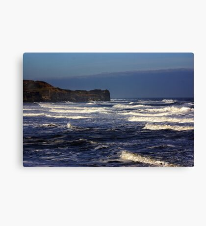 North Sea at Sandsend. Canvas Print