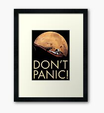 Starman DON'T PANIC At Mars Framed Print