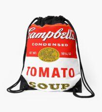 Andy warhol soup can mug Drawstring Bag