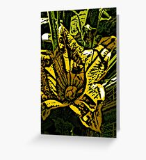woodcut courgette Greeting Card