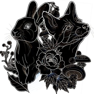 Negative fox and rabbit  by cophine324b21