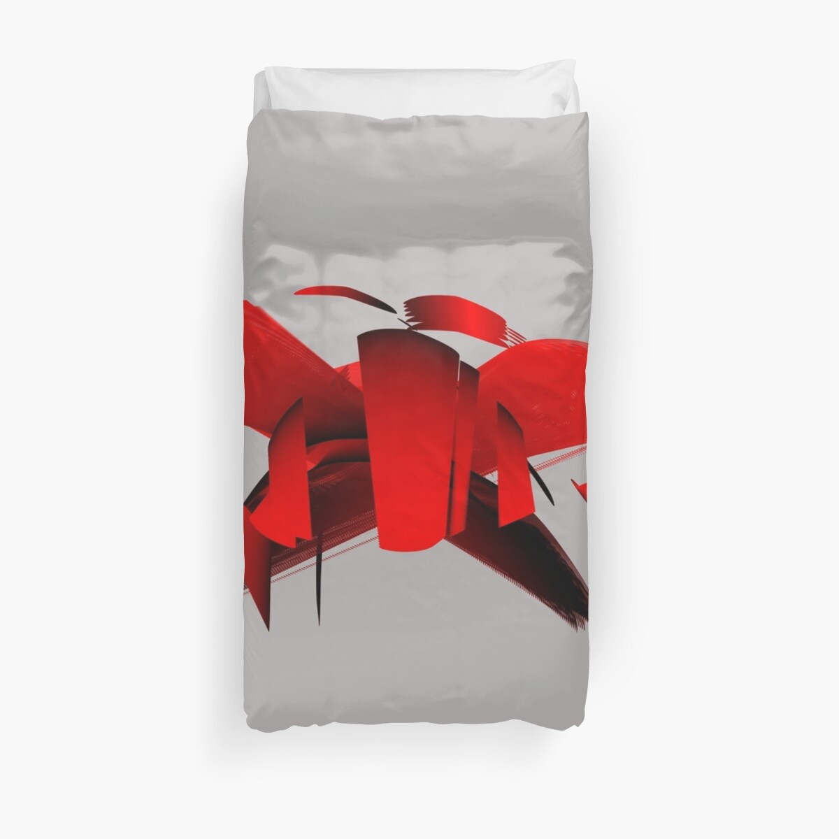 Graphic in Red and Black, flying thing. by Robert Elfferich