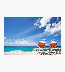 Lounging in Tropical Paradise Photographic Print