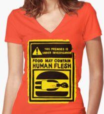 HUMAN FLESH Women's Fitted V-Neck T-Shirt