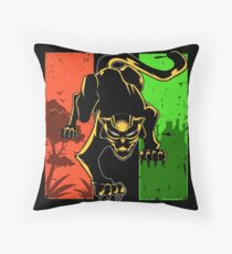 Black Panther King of Africa Wakanda Throw Pillow