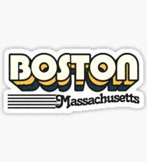 Boston, Massachusetts | Retro Streifen Sticker