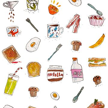 breakfast foods by klamotystudio
