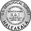 BENCHMARK HALEAKALA HAWAII GEOCACHING USGS VOLCANO CRATER USGS SILVER by MyHandmadeSigns