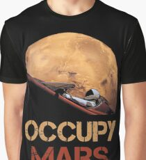 Occupy Mars Spacex Starman Graphic T-Shirt