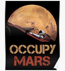 Besetze Mars Spacex Starman Poster
