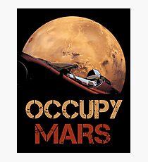 Occupy Mars Spacex Starman Photographic Print