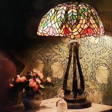 Stained Glass Lamp and Vase of Flowers by SudaP0408