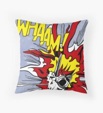 Roy Lichtenstein - Whaam! High Quality Throw Pillow
