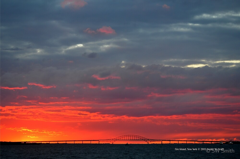 Fire Island Inlet Bridge Sunset | Captree State Park,  New York  by © Sophie W. Smith