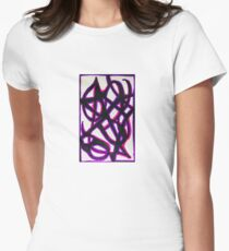 Abstract Purple Delightfully Pure Passion  Women's Fitted T-Shirt