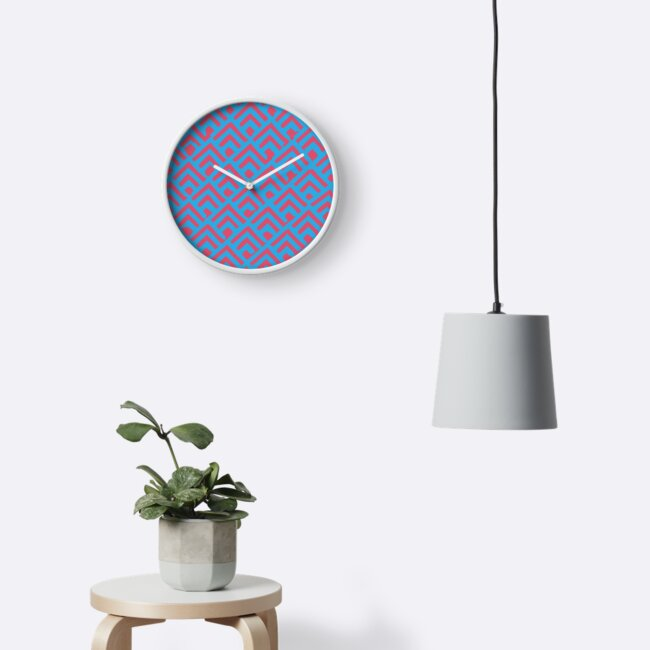 Mountain Abstract clock by Naf4d