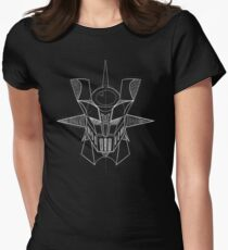 Mazinger Z - White Sketch Womens Fitted T-Shirt