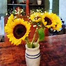 Vase of Sunflowers by Susan Savad