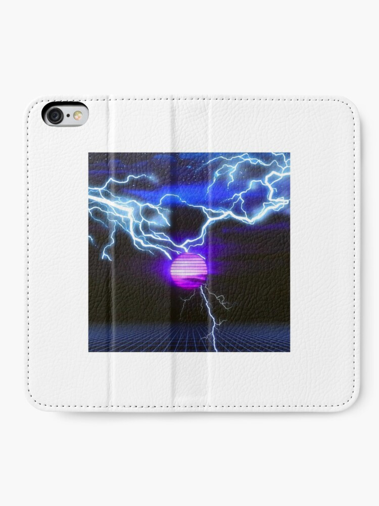 Alternate view of Retro night wave iPhone Wallet