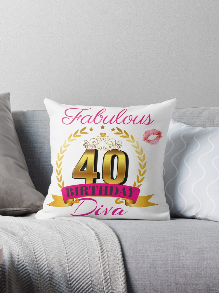 Fabulous 40 Year Old Birthday Diva Gift Idea For Her