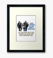 Police t-shirt Framed Print