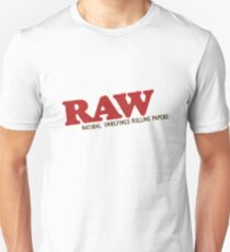 Raw Rolling Papers Smoking Apparel Unisex T-Shirt