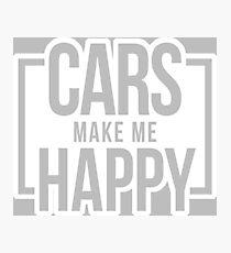 cars make me happy 3 Photographic Print
