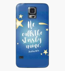 He Calls By Name (Blue) Case/Skin for Samsung Galaxy