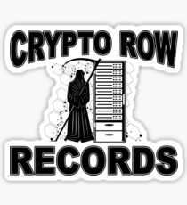 CRYPTO ROW RECORDS - DEATH BITCOIN BLOCK CHAIN ​​- FINTECH Sticker