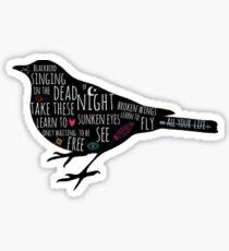 Blackbird Doodles Lyrics Sticker