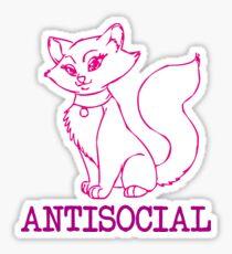 Antisocial Kitten Sticker