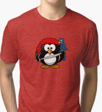 Boy Pirate Penguin Tri-blend T-Shirt