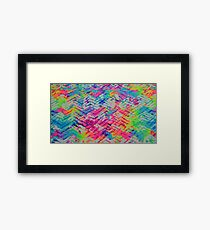Neon Pattern Framed Print