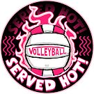 Volleyball Served Hot Pink Vball by MudgeStudios